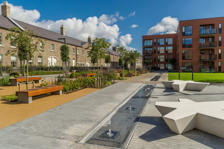 This image is one of a series of the completed Clancy Quay - Phase 2, development at Islandbridge photographed on behalf of Glenbeigh Construction in Septemeber 2017
